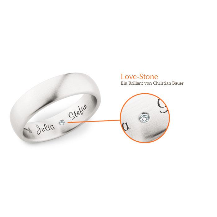 Der Love-Stone | Trauringe von Christian Bauer in Essen