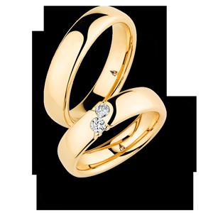 Zwei Diamanten der Liebe