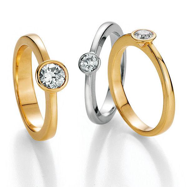 Verlobungsringe Hilgers Diamonds - Solitaire mit Zargenfassung