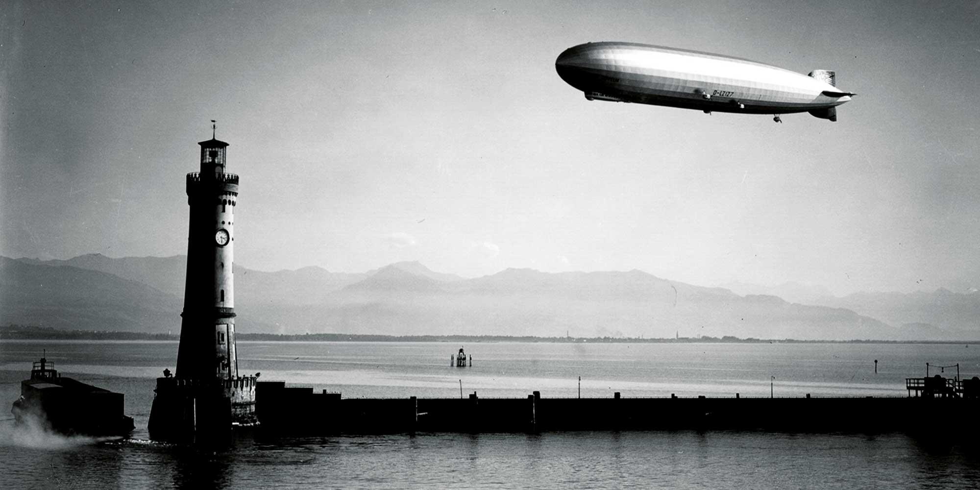 Die Zeppelin über dem Bodensee | Juwelier Hilgers Essen